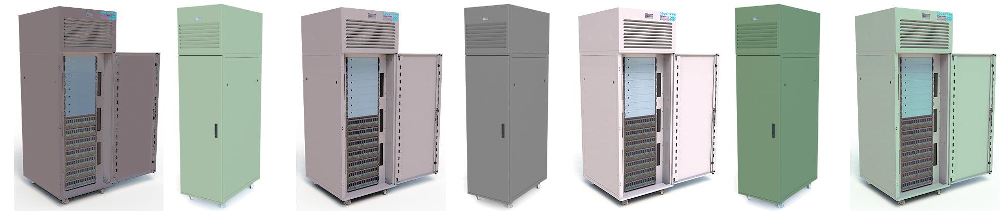 Server rack cooling cabinets